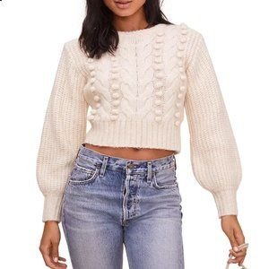 ASTR Label Cropped Cable Knit Sweater NWT